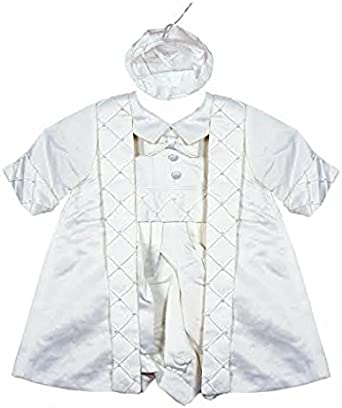 Gorgeous Collections Baby Boys Highly Detailed 3 pcs Christening Gown//Outfit