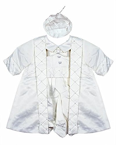 92c6176e5 Baby Boy's Highly detailed 3 pcs christening Gown/ Outfit (0-6months, Cream