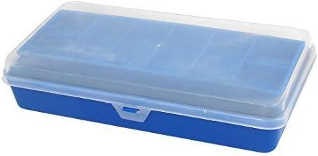 DealMux Plástico Dual Layer Isca Gancho Lure caixa de equipamento de armazenamento Caixa Azul: Amazon.es: Deportes y aire libre