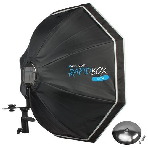 Westcott Rapid Box 26'' Octa Softbox with Deflector Plate, Silver by Westcott