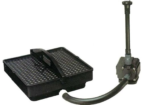 Pondmaster 02215 500 GPH Pond Filter with Pump and Fountain Head