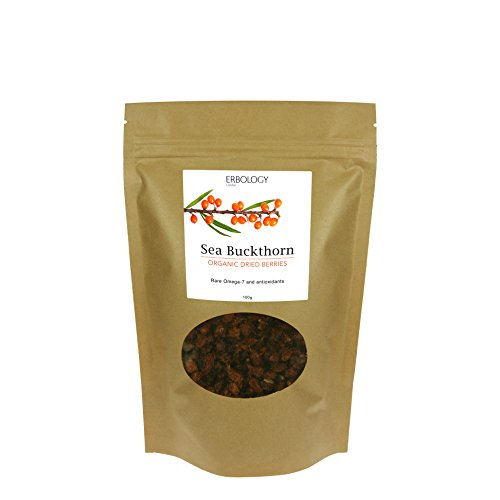 Organic Sea Buckthorn Berry (Organic Sea Buckthorn Dried Berries 3.5 oz - Rich in Omega-7 and Vitamin E - Powerful Antioxidant)
