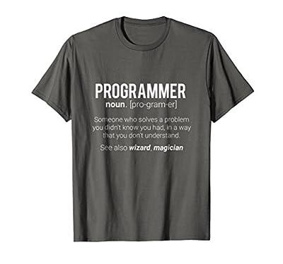 Funny Programmer Meaning T-Shirt - Programmer Noun Defintion