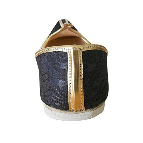KALRA Creations Herren Schuhe Traditionelle indische Silk Groom Schwarz