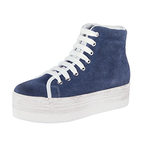 .HOMG SUEDE WASH - BLUE W IT 37
