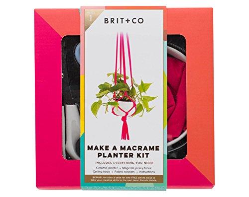 Brit + Co Make a Macrame Planter - Warehouse Burberry