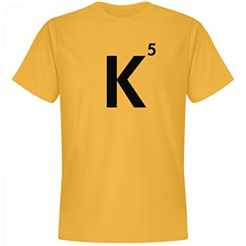 Funny Group Costumes College Humor (Word Games Costume, Letter Tile K: Unisex Next Level Premium T-Shirt)