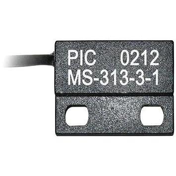 PIC MS-313-3 Reed-Kontakt 1 Schließer 150 V//DC 120 V//AC 0.5 A 10 W