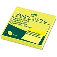 Faber-Castell 5089565434 Yapışkan Notluk 75 x 75mm, Fosforlu Sarı