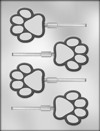 CK Products 2-1/2-Inch Paw Print Sucker Chocolate -