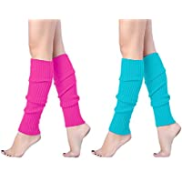 Leg Warmer, V28 Women Ladies Girl Fashion Winter Bohemian Boho Knit Crochet Long