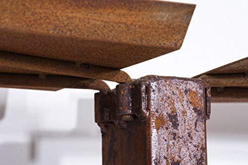 25 x 60 x 100 cm bis zu 2 Gr/ö/ßen und 2 Farben w/ählbar rost CLP Exklusiver Metall-Kaminholzst/änder Madera V2 f/ür die Wand