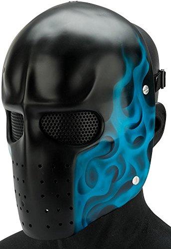 Evike R-Custom Airsoft Fiberglass Full Face Mask Two Army (Blue Flame/Mesh Lens)