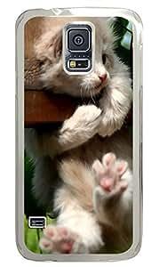 Samsung Galaxy S5 Cat Fence PC Custom Samsung Galaxy S5 Case Cover Transparent