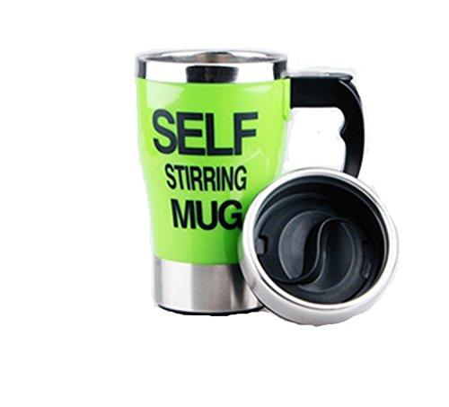 103 opinioni per Viskey Creative- Tazza da caffè auto-mescolante, Acciaio inossidabile, green-2