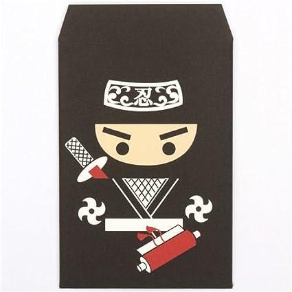 Prime Nakamura Mini Sobres Kawaii Negros con Ninja y ...