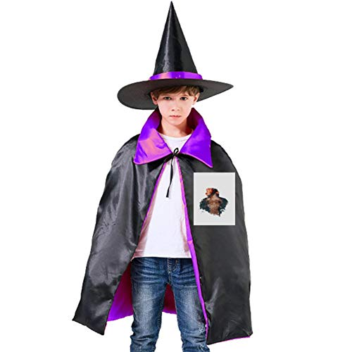 One of my Little Monkey's Painting Halloween Shawl and Witch Hat for Children Kids Purple]()