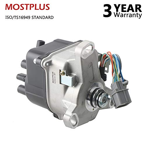 (MOSTPLUS New Ignition Distributor for 92-95 Honda Prelude SI SE VTEC 4WS H22A1 H23A1 DOHC 30100-P14-A01 )