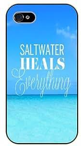 iphone 5c Bible Verse - Salt water heals everything. Sea - black plastic case / Verses, Inspirational and Motivational