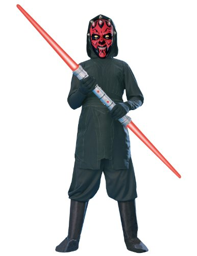 [Rubies Star Wars Darth Maul Costume, Small] (Child Darth Maul Costumes)