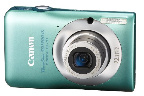 Cheap Canon PowerShot SD1300IS 12.1 MP Digital Camera with 4x Wide Angle Optical Image Stabilized Zoom and 2.7-Inch LCD (Green)