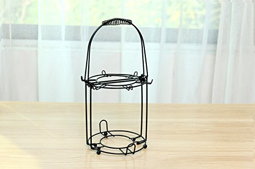 (Wire Rack for Organizing 6*saucers & 6*cups & 6*spoons &1*teapot or Coffee Pot/espresso Set Rack /Tea Set Display Stand/cabinet Stacker/kitchen Handling Case)