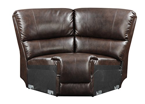 Glory Furniture G975-W Wedge for Sectional Sofa, Chocolate