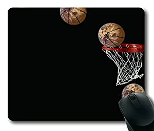 Basketball Going in Basket Rectangle mouse pad Your Perfect Choice