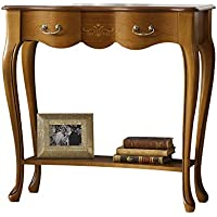 Panamar Solid Wood 1 Drawer Hardwood Console Table, Cherry