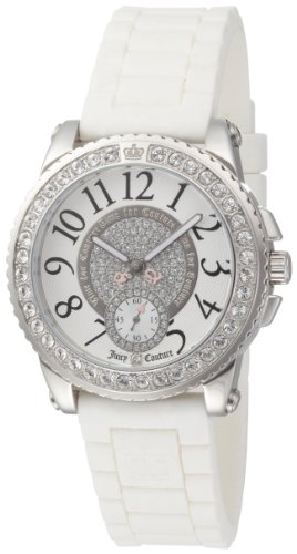 (Juicy Couture Women's 1900702 Pedigree White Jelly Strap Watch)