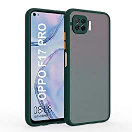 AE Mobile Accessories Back Cover for Oppo F17 Pro Smoke Translucent Shock Proof Smooth Rubberized Matte Hard Back Case Cover (Dark Green)