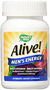 Nature's Way Alive! Men's Energy Tablets, 50 Count