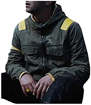 Men's Green Bomber Versity Twenty One Hi-Quality Cotton Pilots Hood Jacket and Full Costume