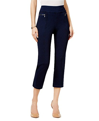 Style & Co. Pull-On Cropped Pants (Galaxy Wash, L)