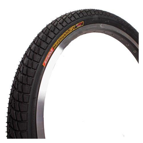 "Kenda Kontact K841 Tire - 20"" x 1.95, Wire Bead, Black/Black Sidewall"