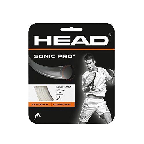 HEAD Sonic Pro Tennis String, White, 17 Gauge Comfort Tennis String