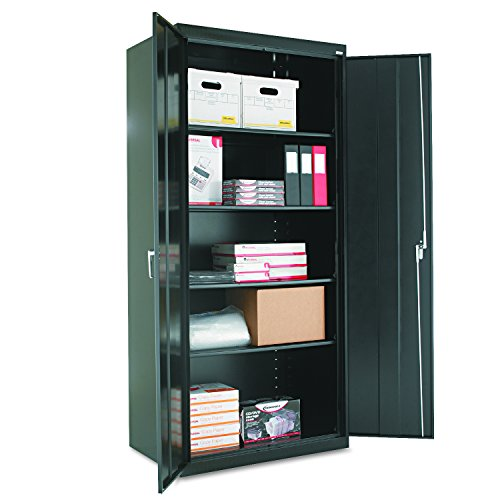 Alera CM7824BK Assembled 78'' High Storage Cabinet, w/Adjustable Shelves, 36w x 24d, Black by Alera