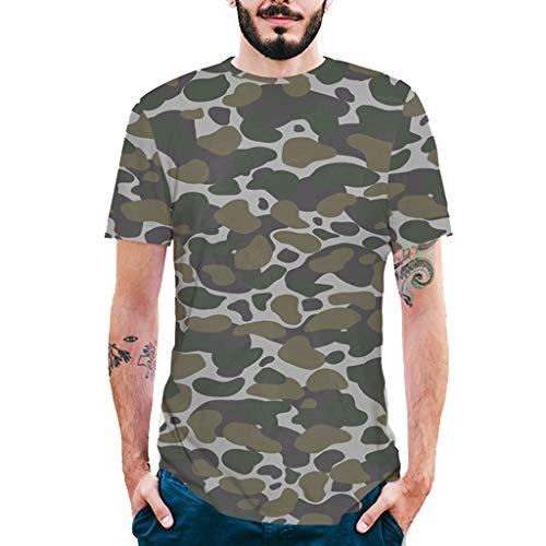 Stoota Fashion Mens Blouse,Splash-Ink 3D Printing Tees Shirt Short Sleeve T-Shirt Tops Green
