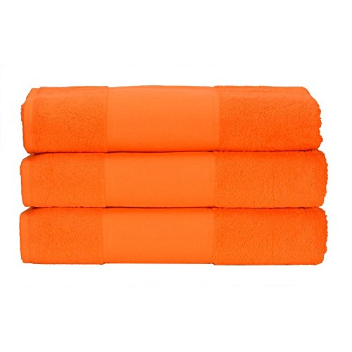 (A&R Towels Print-Me Hand Towel (One Size) (Bright Orange))
