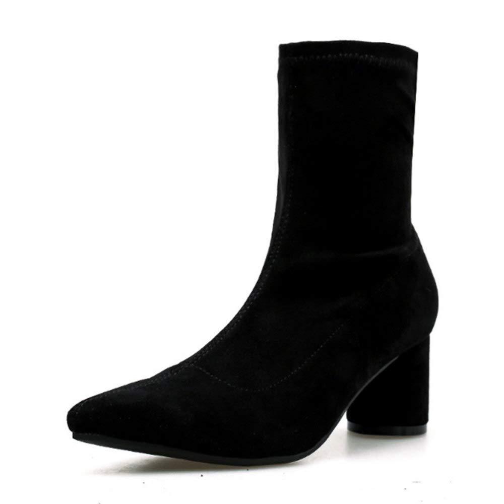 RegenbogenKing Spitz Martin Martin Martin Stiefel High Heel Stiefel Damen Stiefel Winter Chelsea Stiefel 1ba242