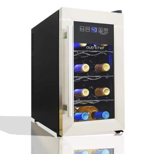 8 Bottles Wine Cooler Refrigerator Thermal Electric Cellar Bar Wine Rack by Alek...Shop