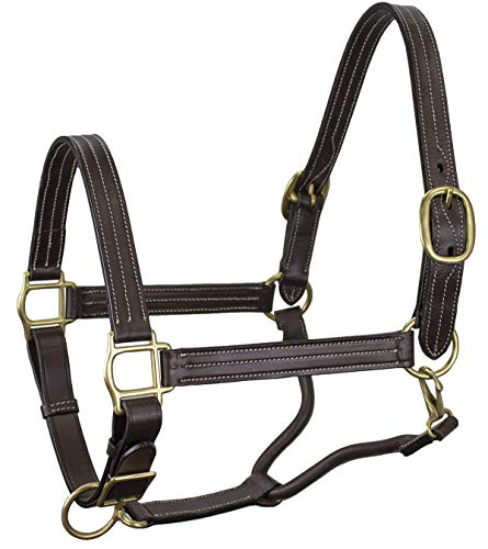 Derby Originals Coventry Triple Stitch Adjustable Leather Halter - Multiple Sizes Available