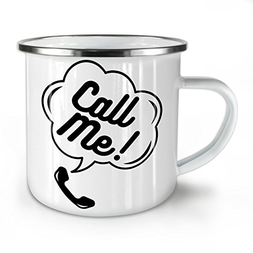 - Call Me Funny Ring Enamel Mug, Cell Cup - Strong, Easy-Grip Handle, Two Side Print, Ideal for Camping & Outdoors By Wellcoda