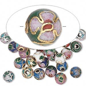6mm Cloisonne Beads (Bead mix cloisonne multicolored 6mm round)