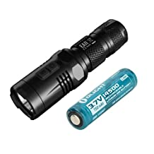 Nitecore EA11 LED Flashlight 900 Lumens CREE XM-L2 U2 - w/ Olight 14500 Battery