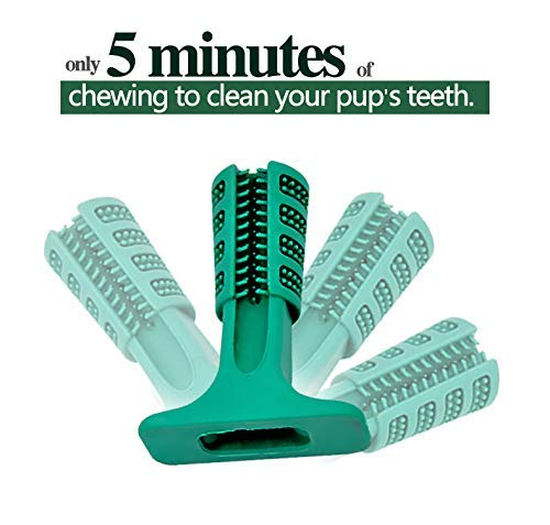 VANUODA Dog Brushing Stick,Chew Cleaning Teeth Toothbrush, Pets Oral Care, Dental Hygiene Toy for Puppy, Cats, Most Pets, Gift for Pets Lover (S) 4