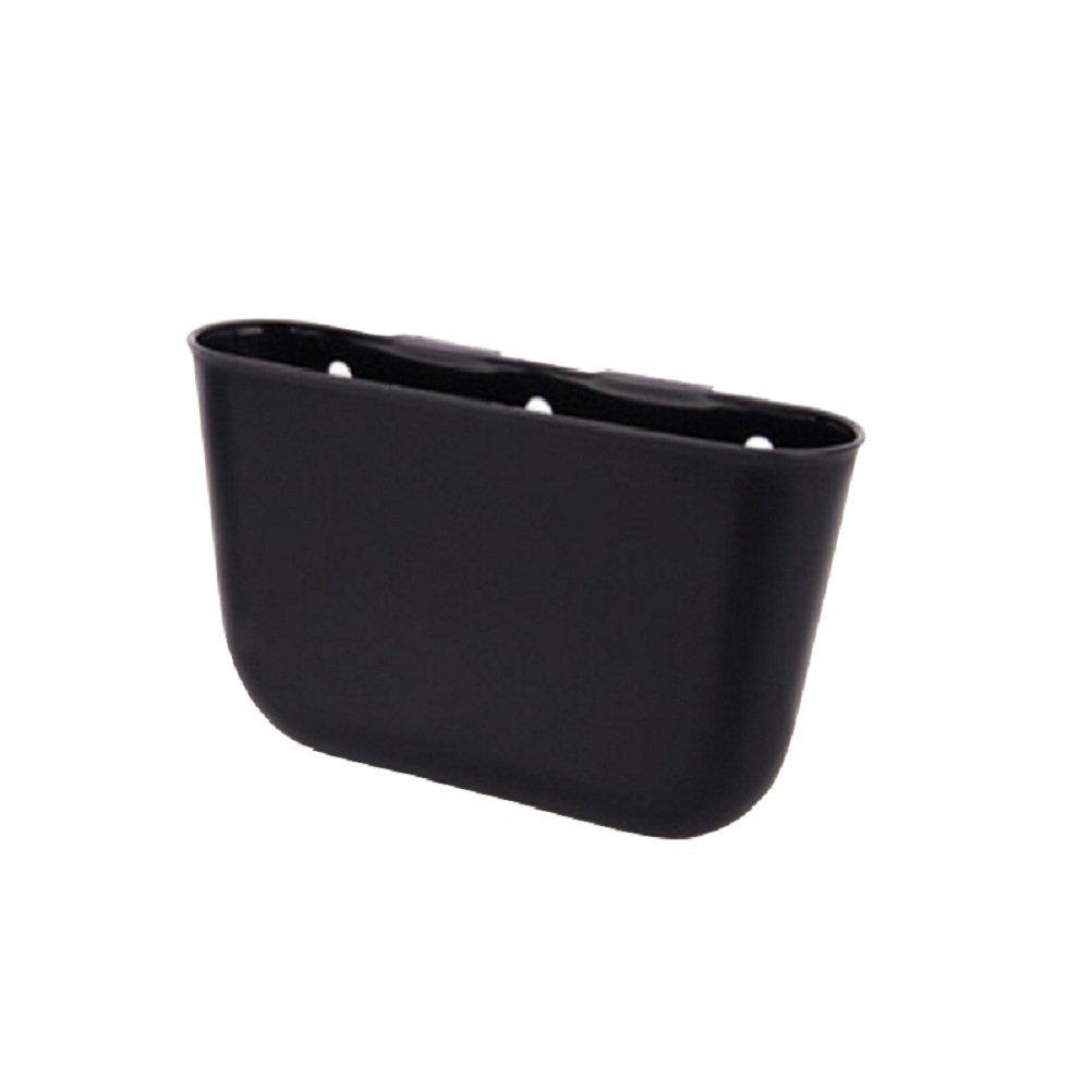 WINOMO Car Trash Bin Hanging Rubbish Can Storage Box Desk Phone Pocket (Black) M161243C6L7Y5351