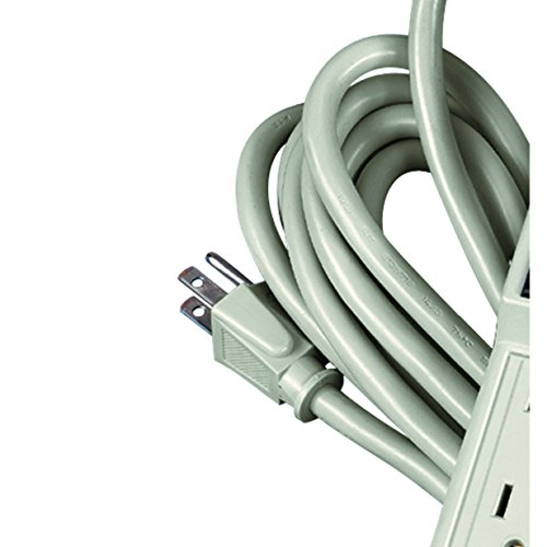 Fellowes 6-Outlet Office/Home Power Strip, 15 Foot Cord - Wall Mountable (99026) by Fellowes (Image #2)