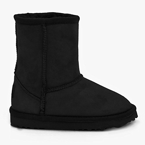 Sheepskin Boots Just Kinder Classic Schaffell Schwarz 14xWCBUx