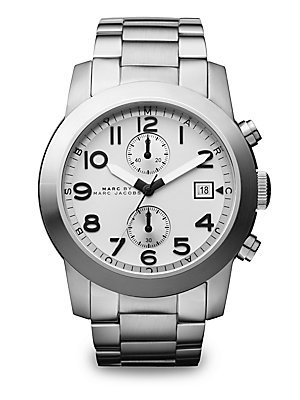 Marc by Marc Jacobs Men's Larry Chronograph Brushes Watch, Silver, One Size
